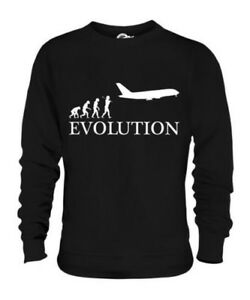 AIRPLANE EVOLUTION OF MAN UNISEX SWEATER TOP GIFT MILITARY NAVY