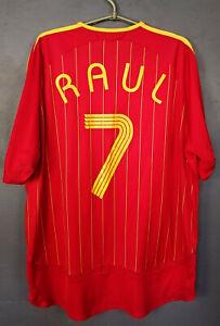 MEN'S ADIDAS SPAIN RAUL #7 WORLD CUP 2006 FOOTBALL SOCCER SHIRT JERSEY SIZE 2XL