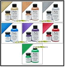 Angelus Pearlescent Paint Acrylic Leather Vinyl sneaker shoes boots 4 oz KIT set