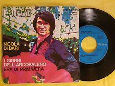 DISCO 45 GIRI NICOLA DI BARI - I GIORNI DELL'ARCOBALENO / PRIMAVERA - RCA VG-/VG