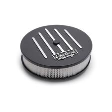 """Edelbrock Air Cleaner Assembly 41663; Racing-Series Black Aluminum Round 14 x 3"""""""