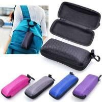 Rectangle Zipper Hard Sunglasses Eye Glasses Case Eyewear Protector Box