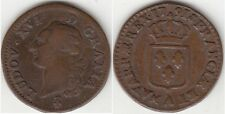 Monnaie Royale Française Sol Louis XVI 1791 A