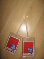 Southwest Airlines Luggage Tags - SWA Coke Coca Cola Playing Cards Tag Set (2)