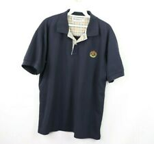 Vintage 80s Burberrys of London Mens Large Nova Check Spell Out Golf Polo Shirt