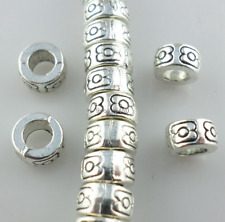 30pcs Tibetan Silver Loose Tube Charm Spacer Beads 3x7mm DIY Jewelry Findings