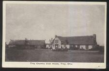 Postcard TROY Ohio/OH  Local Area Golf Course Country Club House 1910's