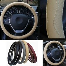 Four Seasons PU Leather voiture Steering Wheel Cover Beige Skid-PROOF NO Fade 38 cm