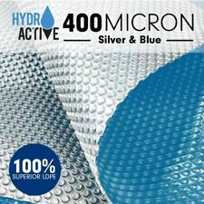 Hydroactive 400 micron Solar Swimming Pool Cover - Silver Blue - 12m x 5m