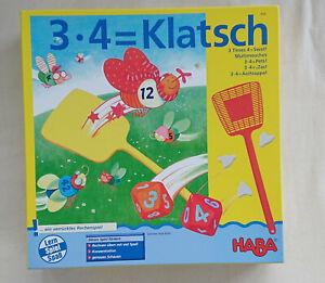 3×4= Klatsch Haba Spiel Lernspiel ab 8 Jahre für 2-6 Spieler Kinder