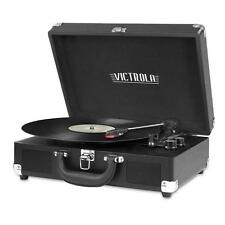 Victrola Portable Suitcase Record Player with Bluetooth - Black