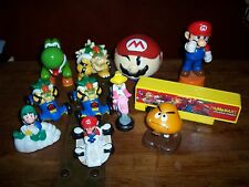 lot Vintage 1989 Super Mario Pop-Up Goomba Luigi Toy Nintendo of America + 11pc
