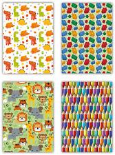 Packung 12 Blatt alltäglichen Juvenile Geschenkpapier. Bausteinen, Bleistift Buntstifte,