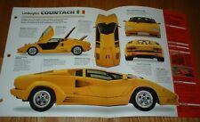 1990 Lamborghini Countach Qv Anniversary Spec Sheet Brochure Photo Poster Print Fits Lamborghini Jalpa