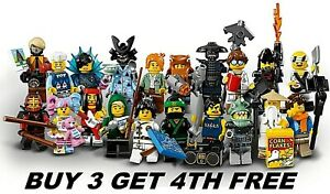 LEGO MINIFIGURES NINJAGO MOVIE 71019 MINI FIGURES BUY 3 GET 4TH FREE