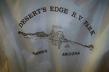 Vintage 80's Desert Edge RV Park Phoenix Arizona white jacket large