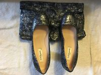 L K Bennett high heeled court shoes size 4/37 & 5/38 and Matching Clutch Bag