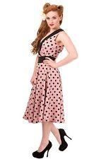 V-Neck Casual Spotted Regular Size Dresses for Women