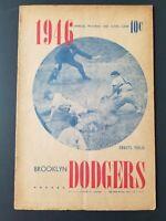 VINTAGE 1946 ~Brooklyn Dodgers Program & Scorecard  (Scored v Cincinnati)  J114