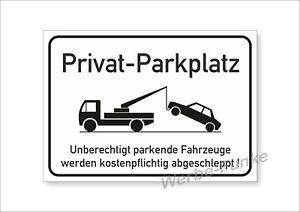 Privat - Parkplatz - Schild  , 42 X 30 cm, Privatparklatz, mit Schutzlaminat