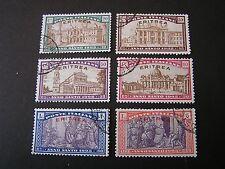 *ERITREA, SCOTT # B5-B10(6), COMPLETE 1925 SEMI-POSTAL SET HOLY YEAR ISSUE USED