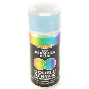 Hycote Ford Bermuda Light Blue 150ml Double Acrylic Spray Paint Aerosol XDFD204