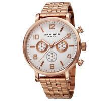 Akribos XXIV AK800RG Quartz Chronograph Stainless Steel Bracelet Mens Watch