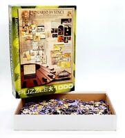 Eurographics Leonardo Da Vinci 1000 PC Jigsaw Puzzle Renaissance Art Complete