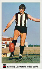 1971 Mobil VFL Footy Photos Card No26 Peter McKenna (Coll'wood)-EXCELLENT, RARE!