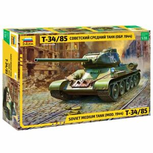 Zvezda 3687 T-34/85 (mod. 1944) /soviet medium tank/ 1/35