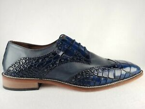 Stacy Adams Tomaselli Wingtip Oxford Dress Shoes, Men's Size 11 M Blue