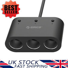 ORICO Car Charger Adapter With 3 Cigarette Lighter Sockets & 2 USB Ports
