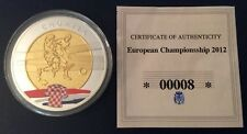 """Ltd Ed euro 2012' Polska-Ukrajina 'Plata Plateado & medallón dorado' Croacia"""""""