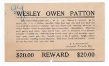 1913 Reward Postcard for Missing Boy Sheriff of Turlock CA to SF Police