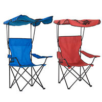 Folding Garden Camping Fishing Chair Shelter Portable Backpacking Seat High Back