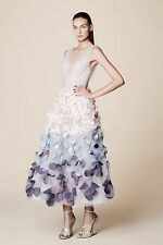 NWT Marchesa Notte Sleveless Ombre Tulle Petal Coin Dress