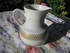 Porzellan Milchkännchen Winterling Marktleuthen Motiv weiss mit Blattgoldgürtel