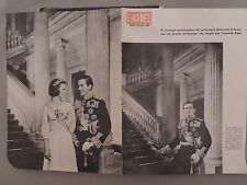 Photos Royal Wedding in Greece 1964 of magazine Pictures. Constantine and Anna M