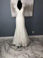 maggie sottero Carolina wedding dress Size 12 Ivory Lace