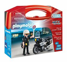 """Playmobil 5648 Carrying Case Small """"Police"""" Building Kit"""