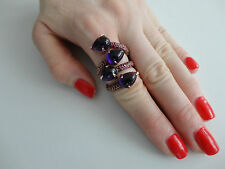 Sazingg Women`s Amethyst Cabochon Massive 925 Silver Couture Ruby Ring BCF411