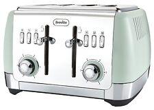 New Breville VTT768 Strata 4 Slice Toaster - Matt Green
