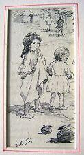 La Nouvelle-Zélande Livre INDIENNE illustrations edith e strutton ink 2 petites filles c1900