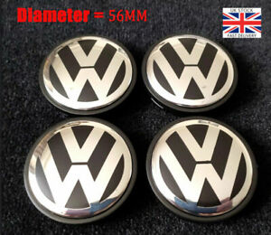 4PCS Outer Alloy Centre Wheel Caps 1J0601171 For V W Golf Polo Bora Beetle 56MM