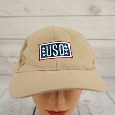 USO Hat Beige Stitched Adjustable Baseball Cap Pre-Owned ST52