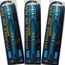 3 Boys Blue Invisible Ink Spy Pens & UV Light Kids Spy Game Write Secret Message