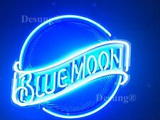 "New Blue Moon Beer Bar Pub Neon Sign 19"" with HD Vivid Printing Technology"