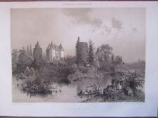 BELLE GRAVURE 1867 BRETAGNE ILLE ET VILAINE CHATEAU DE LANDAL