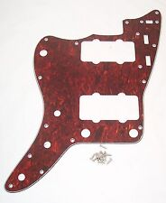 LEFT HANDED SCRATCHPLATE FOR FENDER1962 JAZZMASTER / FAUX TORTOISE SHELL