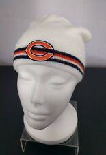Chicago Bears White Beanie One Size Fits All Cap NFL Football Ditka Snow Winter